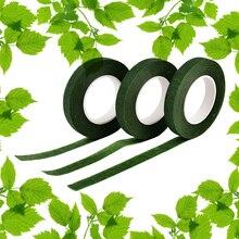 1 шт. 12 м цветочные закрывающиеся эластичные лента поделки декоративные маскировка лента +зеленый офис клей лента канцелярские товары лента