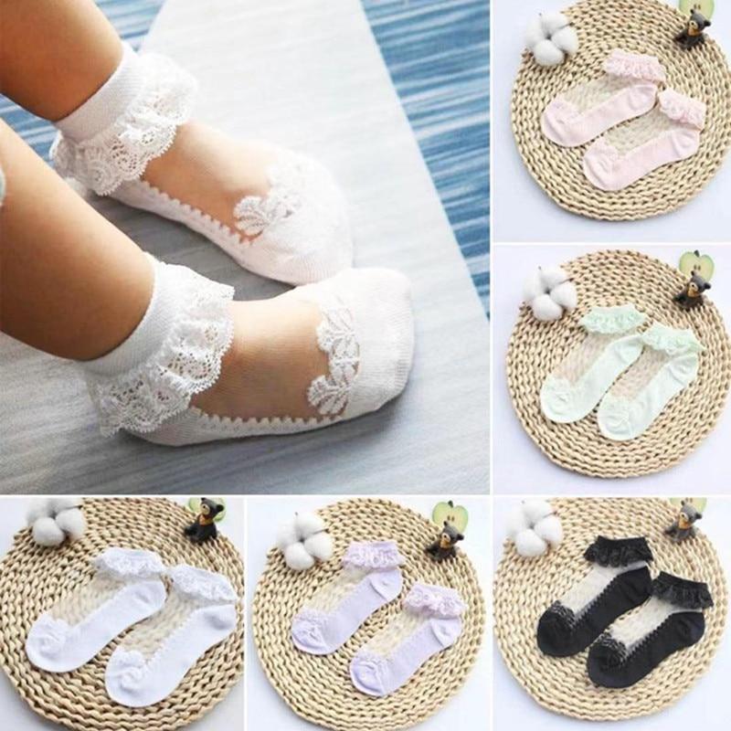 3pairs/Lot Princess Cotton Socks Lace Socks Soft Ruffled Summer Breathable 1