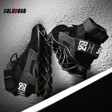 Times New Roman 2020 Men Boots Spring Autumn Ankle Man Boots Fashion Footwear Lace Up Shoes Men High Quality Chunky Sneakers mycolen new brand high quality spring autumn shoes men super warm leather boots fashion high top man ankle boots askeri bot