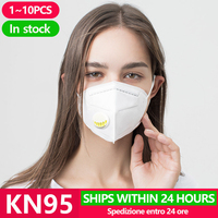 KN95 Disposable Face Masks N95 Protective Filter Mouth Respirator Dust Mask Flu Facial template ffp2 Pm2.5 mouth Gas Cover Masks     -