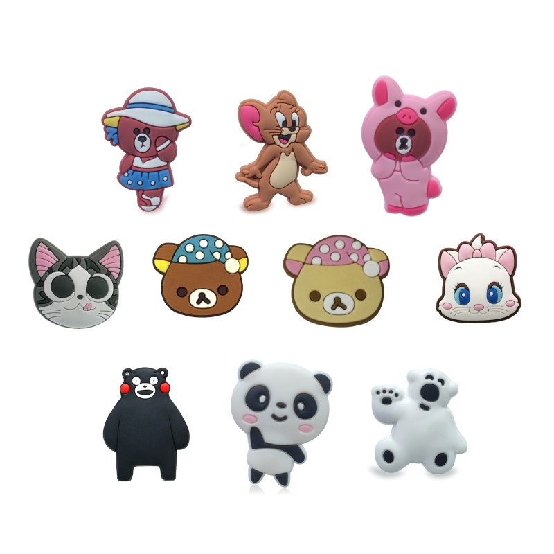 1pcs/1Set  Lovely Bears PVC Shoe Charms Buckles Shoes Accessories Decorations Ornaments Fit For Croc JIBZ Shoes Bands Party Gift