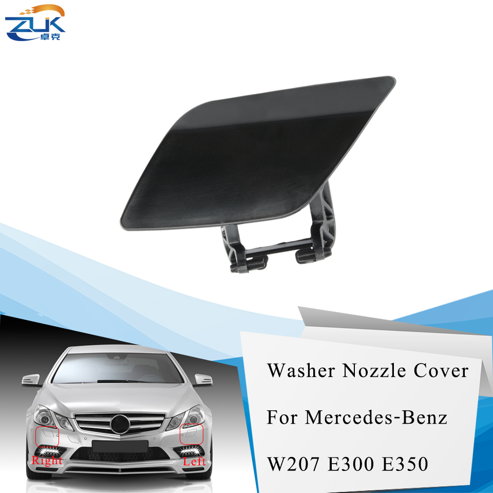 ZUK Headlight Washer Nozzel Cover Cap Housing For <font><b>Mercedes</b></font> Benz E-Class CGI <font><b>Coupe</b></font> W207 2009-2012 E260 <font><b>E300</b></font> E350 Base Color image