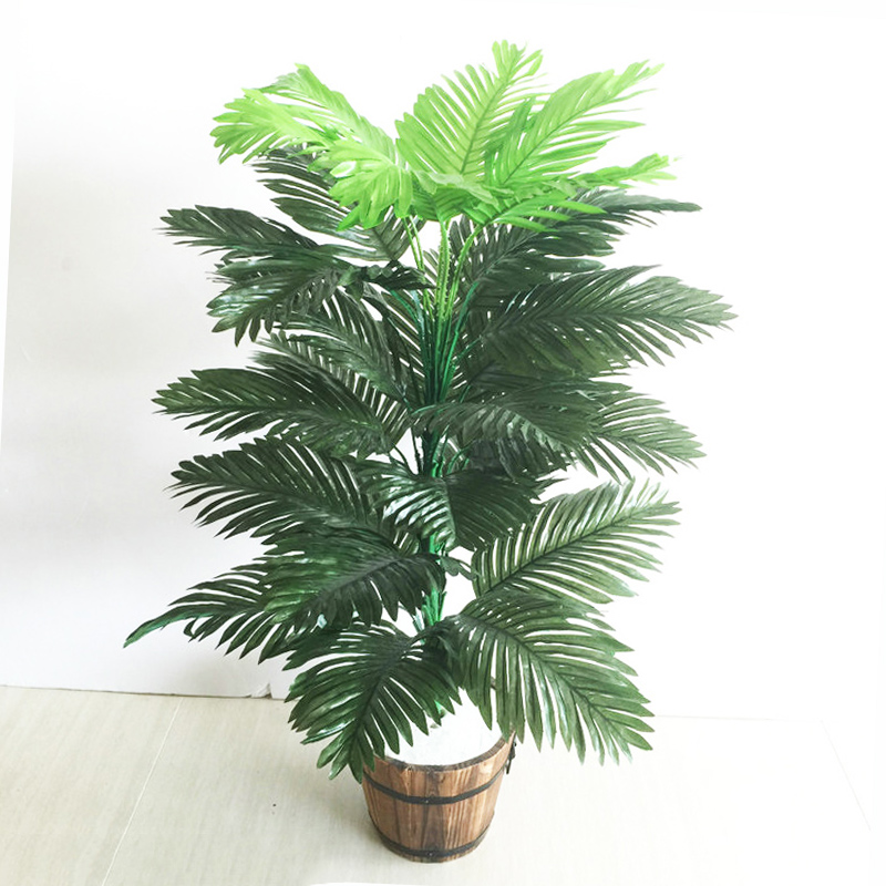 90cm 39 Leaves Tropical Tree Large Artificial Plam Plants Fake Monstera Branch Silk Palm Leafs Without Pot For Home Garden Decor-1