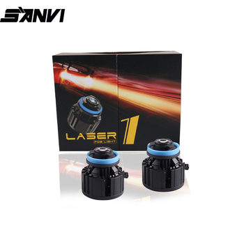 Sanvi New 12W  9005 H11 H8  Laser Lens  Headlight Bulb Car High Beam Module Laser Fog Light  Spotlight