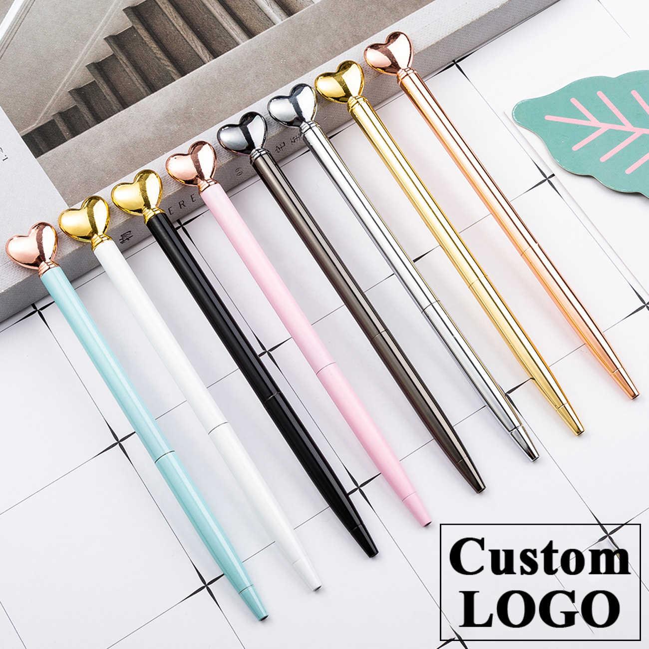 Metalen Pen Liefde Vorm Balpen Gift Reclame Pen Huwelijkscadeau Balpen Nieuwigheid Pennen Kantoor & school Supply Custom LOGO