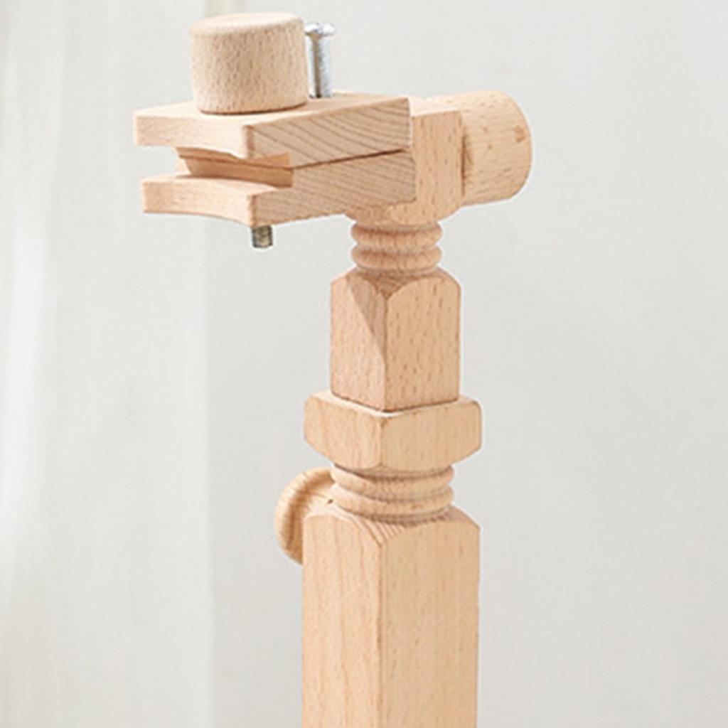Деревянный обруч с вышивкой регулируемая настольная подставка