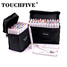 TOUCHFIVE 36/60/80 Colors Sketching Markers Alcohol Based Markers with Dual Tips for Painting,Coloring,Sketching ,Manga