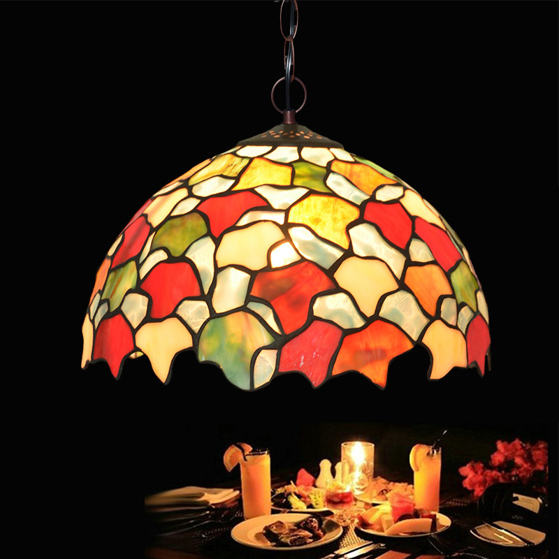 """Manufacturers selling 12 """"emperor tiffany chandeliers european-style cafe restaurant art deco color glass lamp"""
