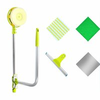 NEW Multi Functional U Shape Telescopic High rise Window Glass Cleaner Dust Brush For Washing Window Mirror Cleaning Tool
