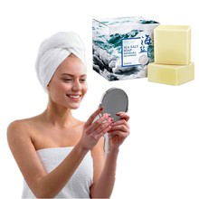 Clean face bath degrease clean face deep cleansing hand whitening soap removing blackheads preventing acne and sea salt soap caru skincare activated charcoal dead sea salt organic face soap