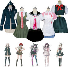 Anime DanganRonpa 2 Cosplay Chiaki Nanami Uniforms Jacket Shirt Tie Skirt for Women Cosplay Costume Halloween Costume for Women(China)