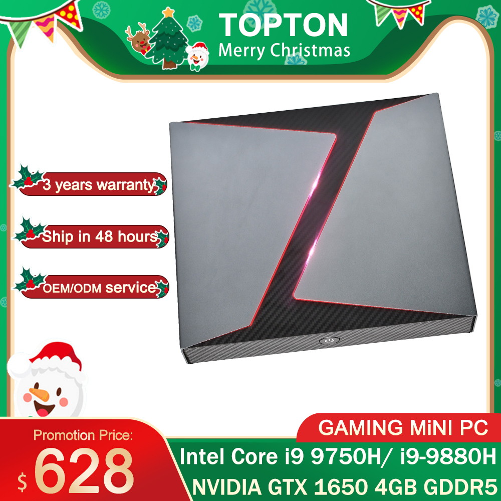 Mini PC Gaming Intel Core i9-9980hk i7 9750H/i5 9300H, Nvidia GTX 1650, 4 go DDR4, ordinateur de bureau, Windows 10, 4K, DP, HDMI, wi-fi AC, 2 x DDR4, 64 go