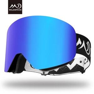Image 1 - Wildmtain gm1 magnético óculos de neve dupla camada anti nevoeiro óculos de esqui, lente intercambiável uv400, masculino feminino crianças óculos de esqui
