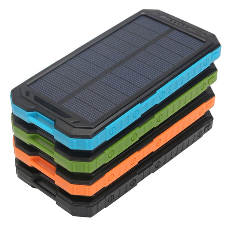 Portable 500000mah Dual-USB Powerbank Waterproof Solar Power Bank For All Phone Universal Charger Batteries Not Included