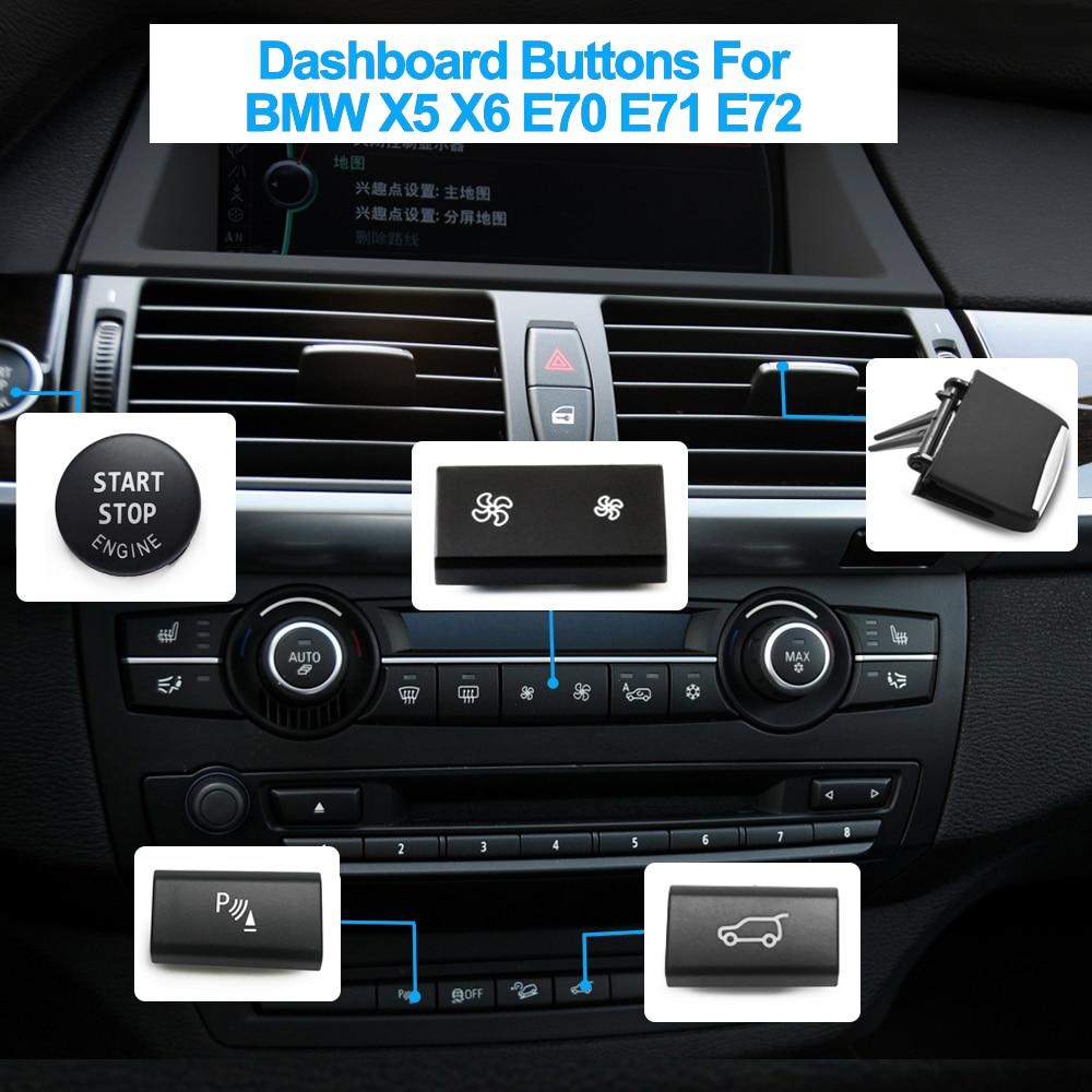 Кнопки для приборной панели, кнопки для запуска и остановки багажника, вентиляционные кнопки переменного тока для BMW X5 X6 E70 E71