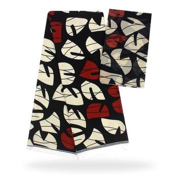 4 Yards Silk Fabric + 2 Yards Chiffon Lace 2019 Ankara Fabric Satin Fabric African Silk Fabric Patchwork for wedding yb11-89