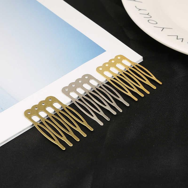 Diadema horquillas Barrettes Base en blanco bisel con peine de dientes para el cabello de Mujer Accesorios para el cabello accesorios para la cabeza DIY palillos de pelo hechos a mano
