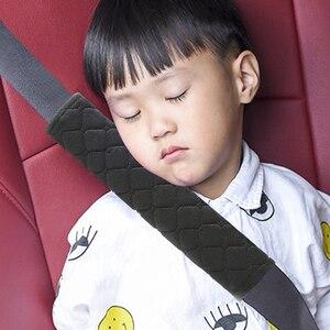 Image 1 - EAFC Baby Children pas bezpieczeństwa gruba pluszowa tkanina poduszka na pasy samochodowe miękka osłona na ramiona poduszka na szyję