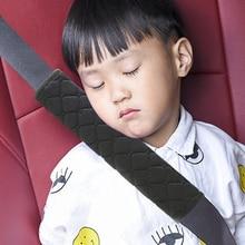 EAFC الطفل الأطفال شريط للتأمين سميكة أفخم النسيج سيارة أحزمة المقاعد وسادة لينة الكتف حماية وسادة وسادة الرقبة مقعد حزام