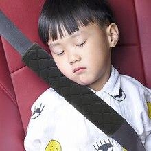 Eafc faixa de segurança infantil, tecido de pelúcia grosso faixa de assento de carro travesseiro macio proteção para ombro cinto de assento do pescoço