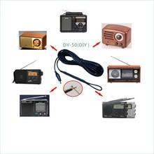 6 Meters FM SW Short Wave pure copper Aerial HD Crocodile clip Signal Enhanced Antenna For Amplifier Tecsun Sony Radio