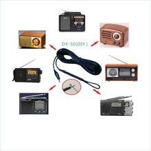 6 medidores fm sw onda curta antena de cobre puro hd crocodilo clipe sinal aprimorado antena para amplificador tecsun sony rádio