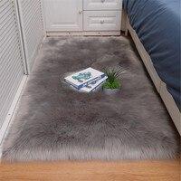 Schlafzimmer Teppich Weichen, Flauschigen Schaffell Pelz Bereich Teppiche Nordic Rot Center Wohnzimmer Teppich Schlafzimmer Boden Weiß Faux Pelz Nacht teppich