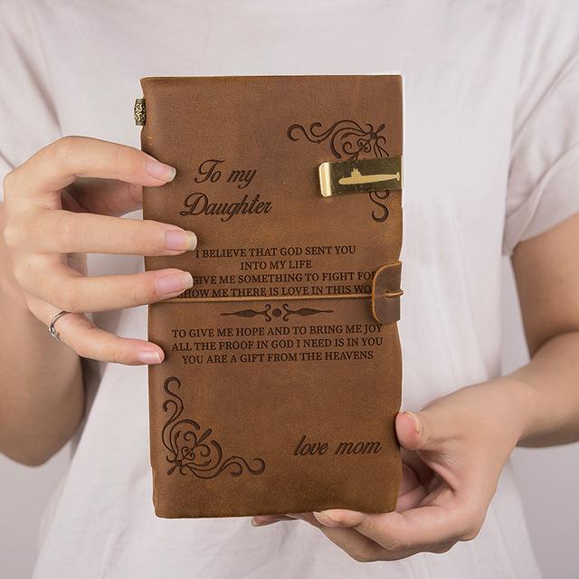 BOBO BIRD Original Brand Genuine leather Notebook With Free Engraving Gift