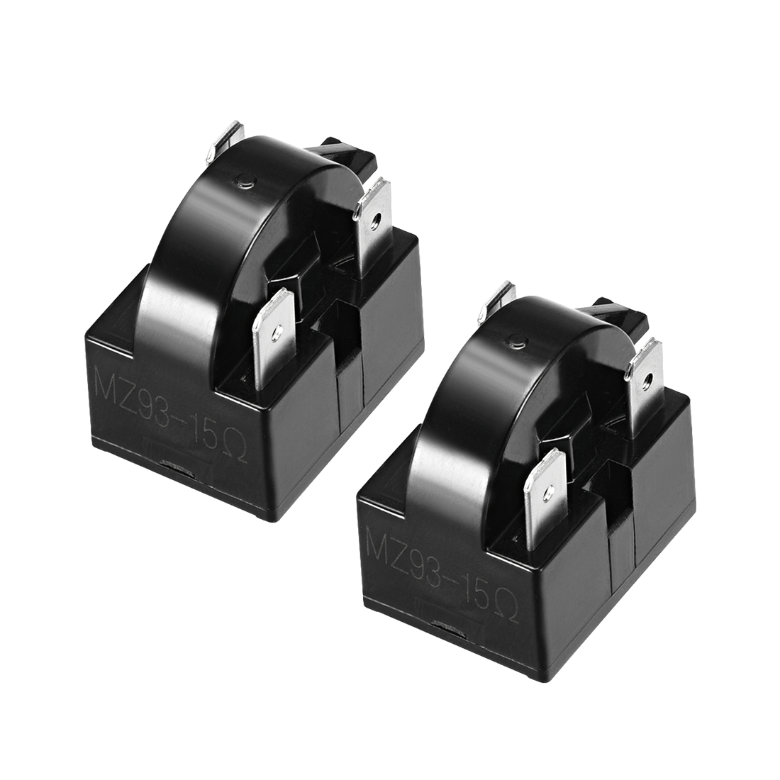 uxcell <font><b>2</b></font> Pcs <font><b>4</b></font>.7-33 Ohm <font><b>4</b></font> <font><b>Pin</b></font> Refrigerator PTC Starter Relay Black 15 Ohm 3 <font><b>Pin</b></font> <font><b>2</b></font> Pcs image