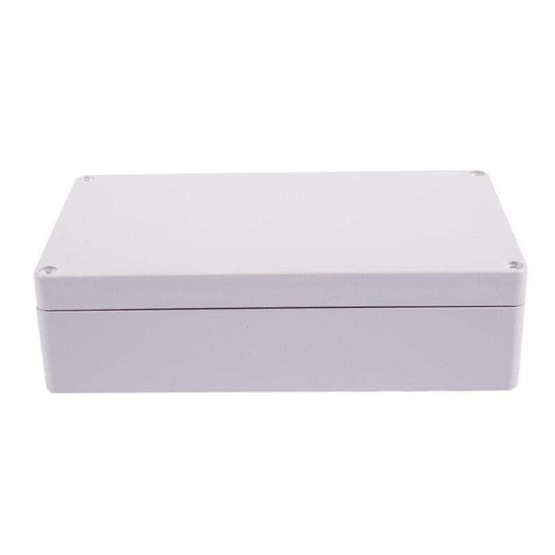 Tüketici Elektroniği'ten Pil Saklama Kutuları'de Su geçirmez plastik muhafaza proje bağlantı kutusu kasa gri title=