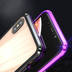 Image 5 - اثنين من جانب الزجاج المقسى حقيبة هاتف محمول الامتزاز المغناطيسي غطاء مقاوم للصدمات EM88