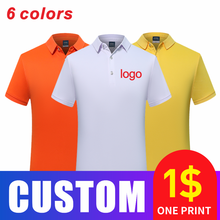 Customized printing and embroidery for men's and women's business casual fashion Polo shirts in spring and summer