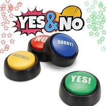 Звуковые игрушки, креативные звуковые кнопки, игрушки, да и нет, извините, возможно, события и вечерние инструменты, украшения