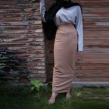 Falda de algodón de talla grande para Mujer, Falda larga de cintura alta, ceñida, a la Moda, 2020