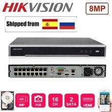 Hikvision 16ch nvr с 2 портами sata для plug & play 16p английская