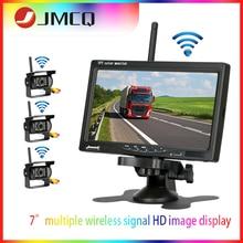 JMCQ 7 Wireless 12V-24V HD Monitor Truck Camera TFT LCD Car for Bus CCTV Reverse Rear-time View Backup