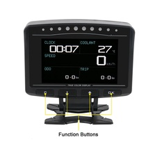 AUTOOL – compteur de vitesse X60 X50 Pro, affichage tête haute HUD, détection de défaut OBD2, affichage de la pression de carburant, voltmètre, température