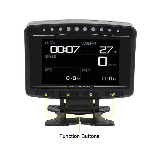 AUTOOL pantalla HUD X60 X50 Pro para coche, detección de fallos, indicador de presión de combustible, voltímetro, Temperatu