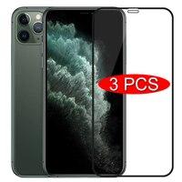 3 pezzi di vetro protettivo a copertura totale per iPhone 11 7 8 6 6s Plus SE 2020 pellicola salvaschermo per iPhone X XR XS 11 12 Pro Max Glass