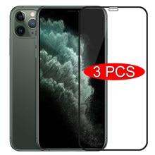 3 pçs capa completa de vidro protetor para iphone 11 7 8 6s plus se 2020 protetor de tela para iphone x xr xs 11 12 pro max vidro