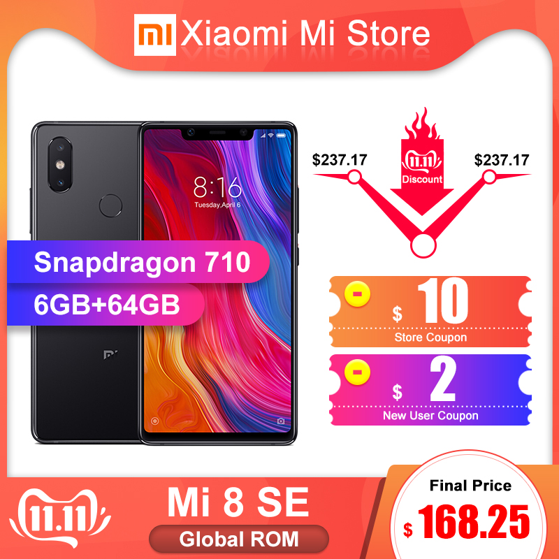 Global ROM Xiaomi Mi 8 SE 6GB 64GB Smartphon Snapdragon 710 Octa Core 5.88
