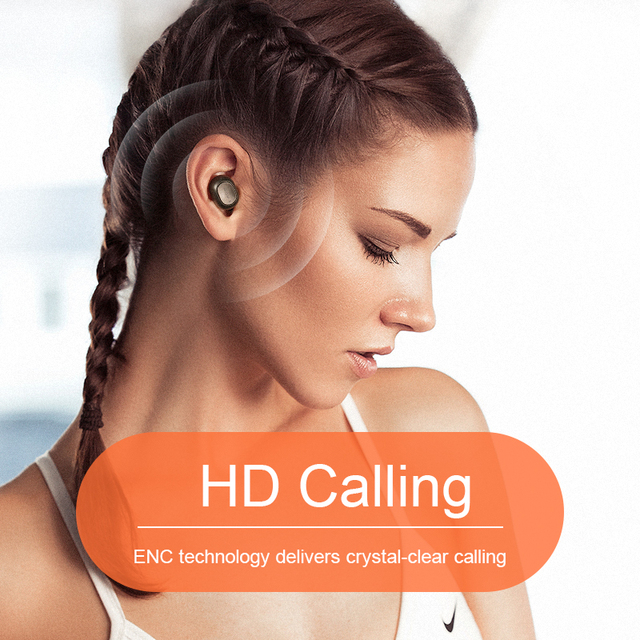QCY T1C Power HiFi stereo earphone wireless headset Bluetooth 5.0 headphone AAC earbuds with microphone customizing APP 6