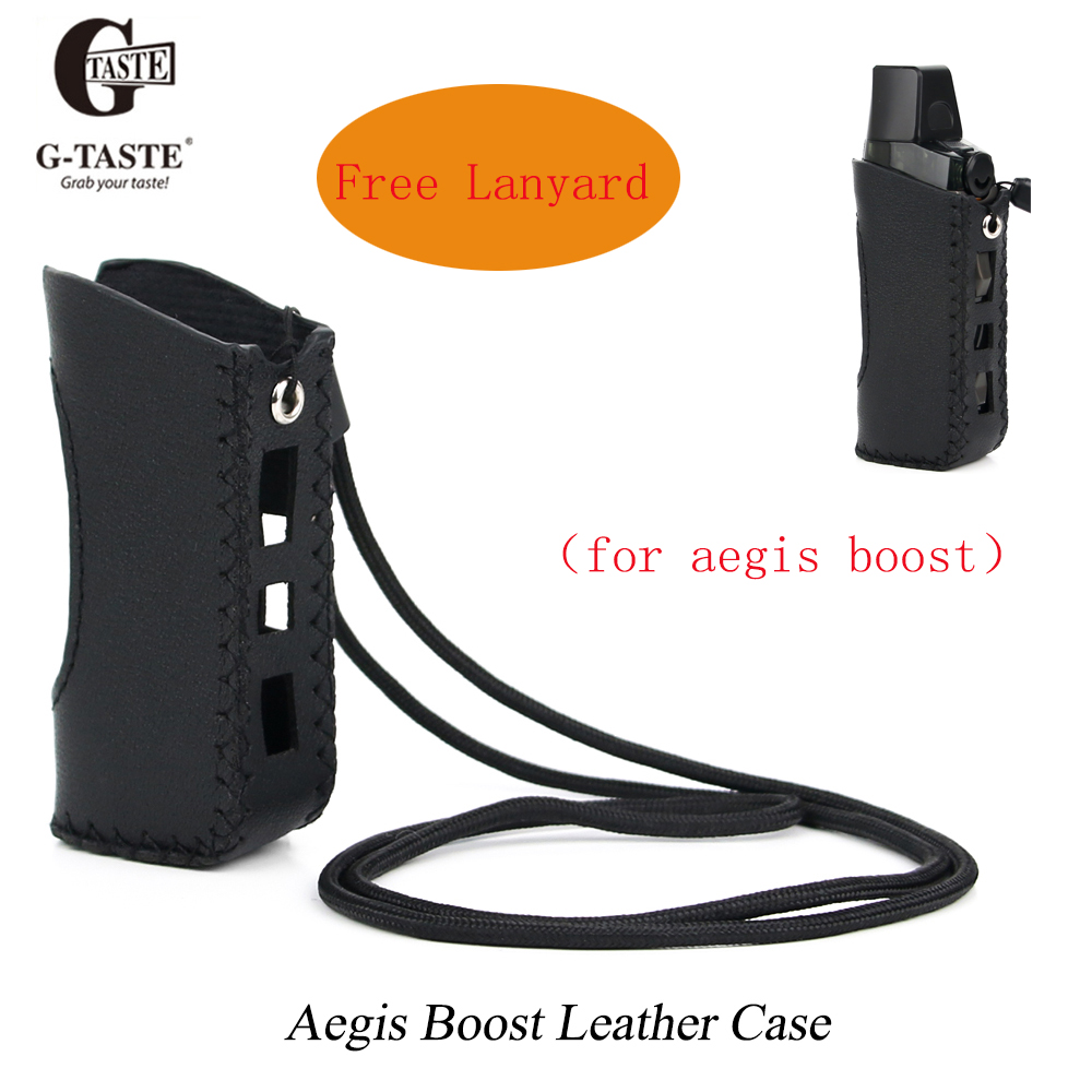 Leather Case For Accessories Aegis Boost Protective Case Handmade Cover With Free Lanyard