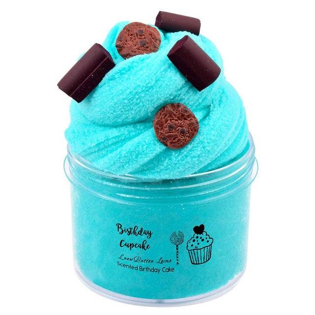 60ml/120ml nuage Slime fruits breloques bricolage argile à modeler jouets pour Slime moelleux Lizun neige boue mastic Slime jouets pour les enfants