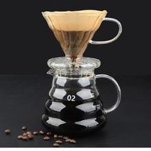 Coffee-Pot Espresso Yrp V60 Dripper Cover Glass High-Temperature-Resistant 600ml