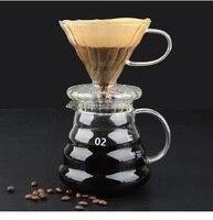 Yrp v60 filtro de café vidro pote de café 600ml com cobertura de alta temperatura resistente vidro reusável máquina café dripper espresso