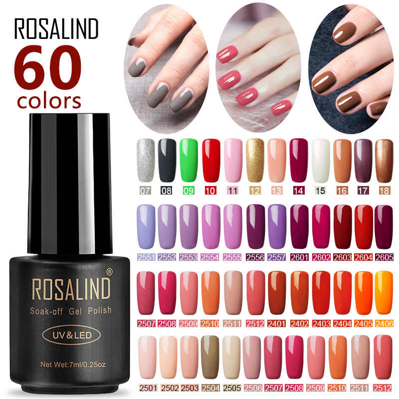 ROSALIND vernis à ongles pour Gel ongles Extension vernis tremper UV Semi Permanent LED manucure hybride vernis à ongles Gel vernis