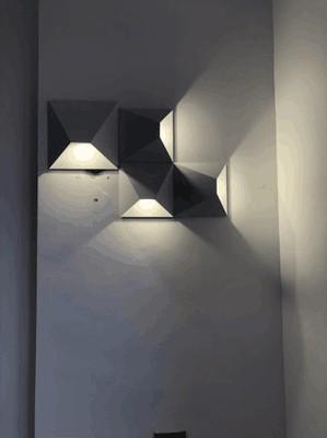 Hcab620f0b2bf4f24900d20a203fa64dfh - LED Modern Geometric Iron Acryl Black White DIY Magic Box LED Lamp LED Light Wall lamp Wall Light Wall Sconce For Store Bedroom
