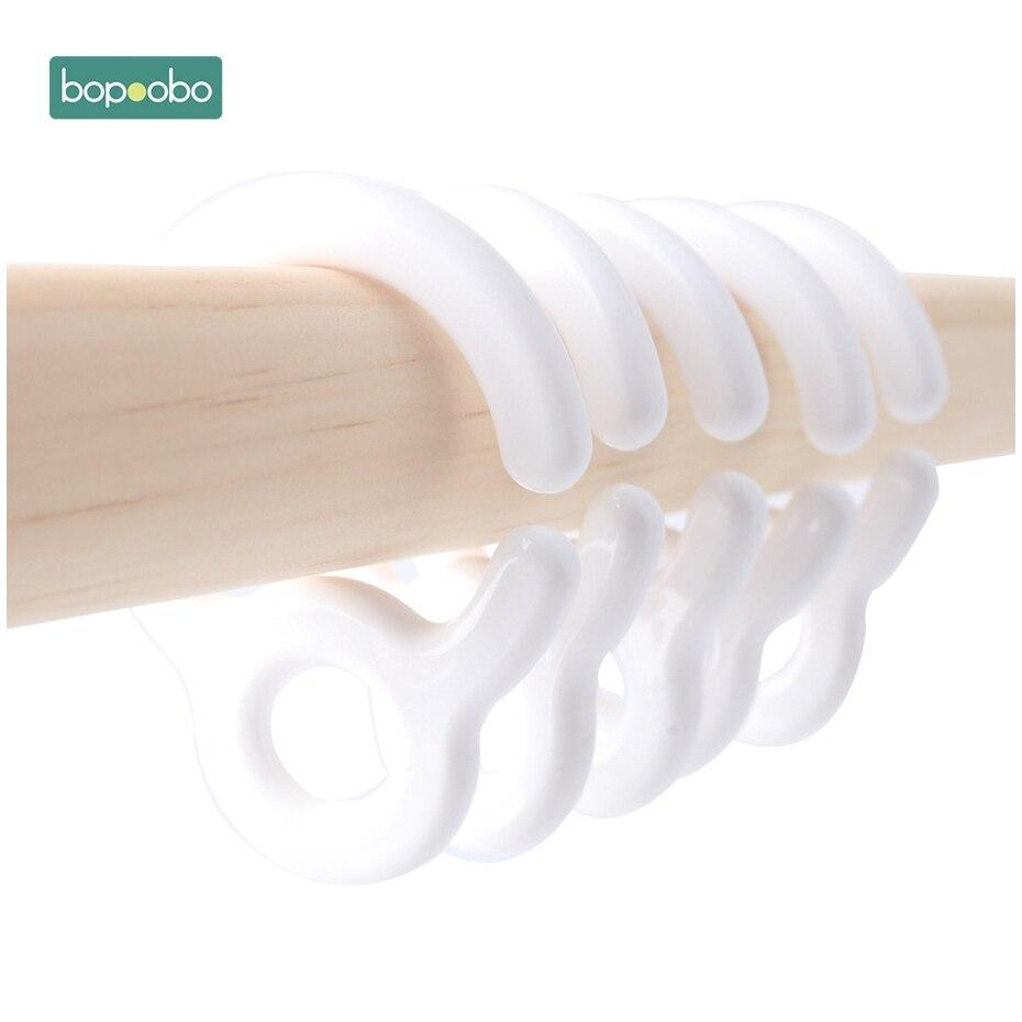 Bopoobo 10 шт. детская коляска Аксессуары Пластиковые Прорезыватели кольцо звенья для игрушка на коляску крючок для пустышки Diy фиксаторы детский Прорезыватель