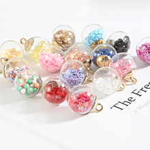 Pendant Charms Jewelry-Accessories Glass-Ball Necklace Diy Transparent 15mm Star Making